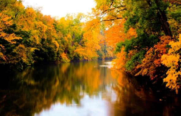 Huron River October 2012 in Ypsilanti, MI